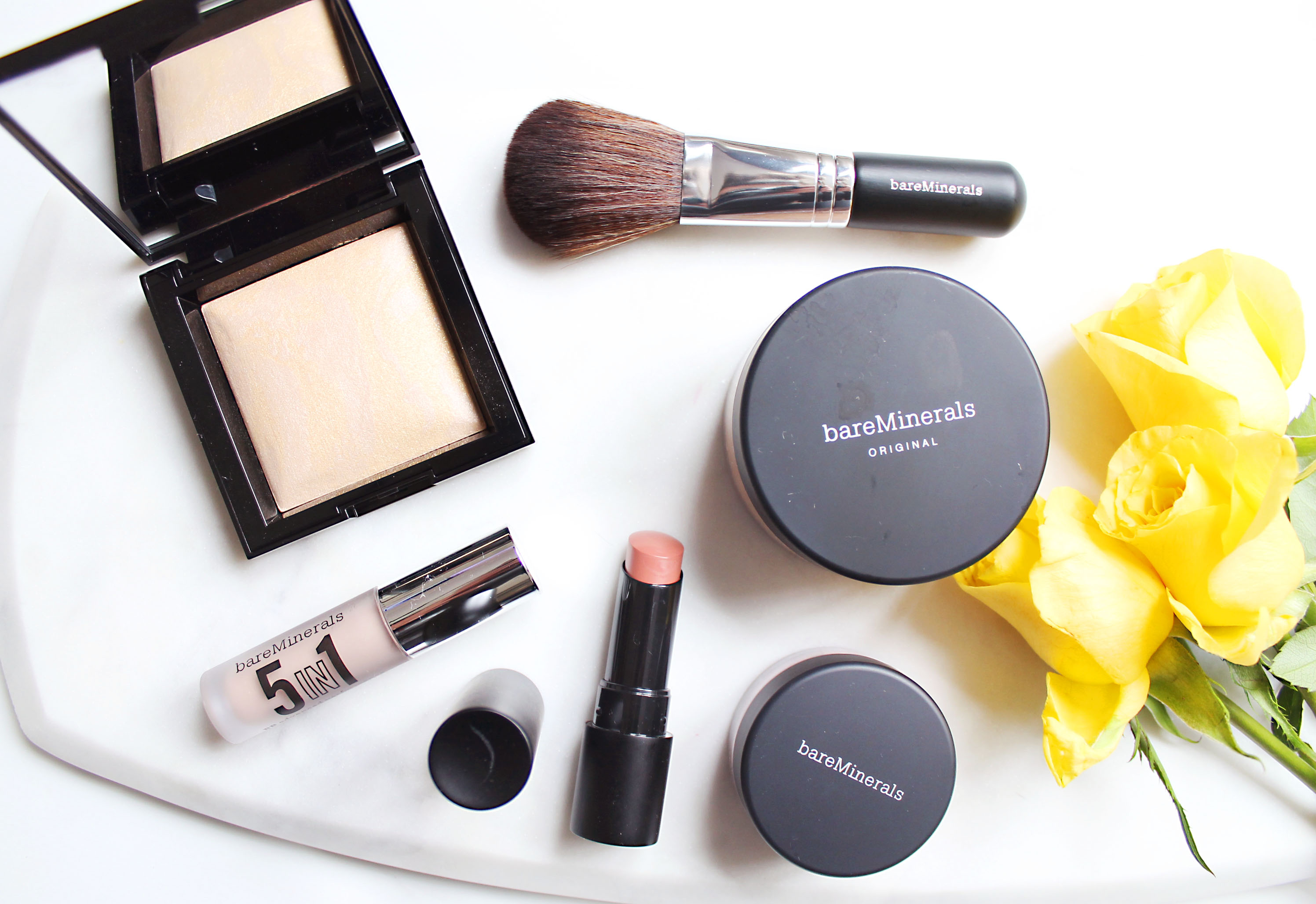 5 Minute Get Glowing Makeup With bareMinerals - Through Mona's Eyes